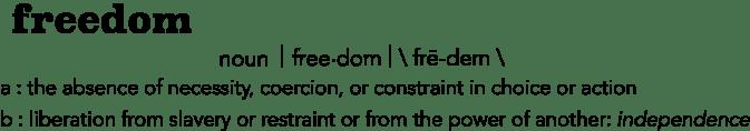 freedom definitions